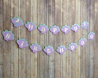 Mermaid Birthday Banner, little mermaid birthday, under the sea birthday banner, mermaid party, mermaid birthday, girly birthday decor