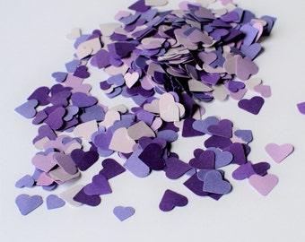 Purple Heart Confetti - Lavendar Heart Confetti - Purple Wedding Confetti - Heart Confetti - Lilac Confetti - Purple Hearts