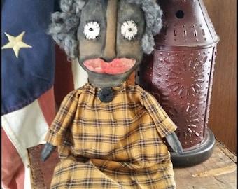 Primitive Handmade Doll Maybel OOAK