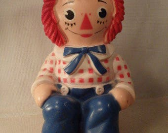 Vintage 1972 Raggedy Andy Bank - The Bobbs Merrill Co Inc