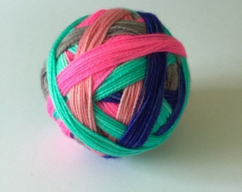 SALE - Ready to Ship: Holiday Hangover - Hand Dyed Self-Striping SPORT Yarn