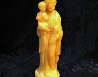 1950's Glow In The Dark Saint Joseph And Baby Jesus Statue