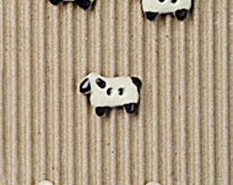 5 Teeny Tiny Sheep Buttons L566
