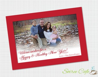 Holiday Photo Card | Christmas Card | Border Card | Printable Card {Digital File}