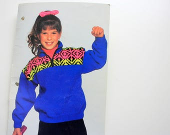 Patons 644 Neon Knits for Kids - Children's Sweaters