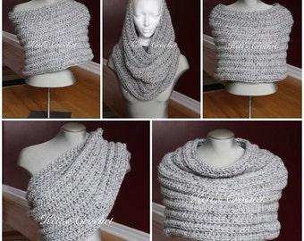 Crochet Capelet,Chunky Cowl,Crochet Transformer Cowl,Chunky Cowl,Oversized Crochet Cowl,Crochet Cape,Crochet Shrug,Capelet,Crochet Scarf