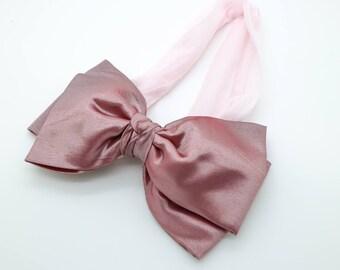 Pale Pink Head Wrap, Big Bow Headband, Pale Pink Baby Headband, Newborn Headband, Big Bow Headband, Nylon Bow Headband, 1105