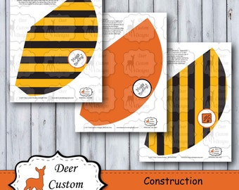 Construction Birthday Party Hats | Under Construction Party Hats | Birthday Party Hats | Diggers Trucks Construction Site Vehicles