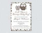 Owl Baby Shower Invitatio...