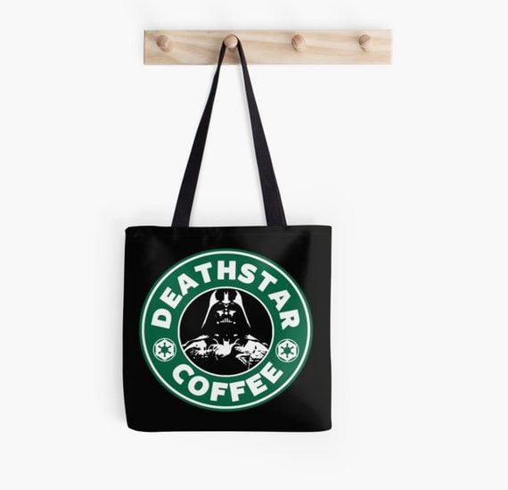 Deathstarbucks Coffee - Tote bag - DeathStar / Starbucks Coffee