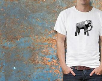 elephant gift, mens gift, mens shirt, mens tshirt, mens clothing, tee shirt, elephant shirt, elephant clothing, animal shirt, summer tee