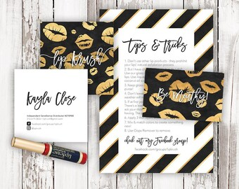 LipSense Business Bundle - LipSense Branding - Business Cards - Referral Card - LipSense Postcard - LipSense Logo