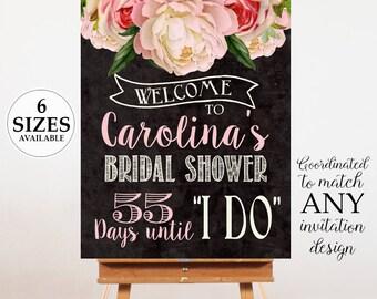 Bridal Shower Welcome Poster, Bridal Shower Sign, Bridal Shower Poster, Welcome Sign,  Digital Door Sign, Printable Bridal Shower Decor