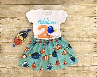 Finding Dory Birthday Shirt, Dory Shirt, Nemo Birthday Shirt, Finding Dory Shirt, Finding Nemo Birthday Shirt, Dory Tutu Skirt, Nemo Tutu
