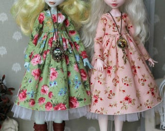 40 colors for choce! Dress for  Monster High/EAH, Blythe, Azone pure neemo L/M/S/XS, Momoko, Obitsu 24 doll  1/6 size