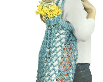 Crochet String Shopping Bag PDF Crochet Pattern