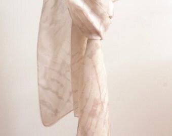 Natural Dye Silk Scarf - 45 x 180 cm - C1S008