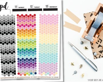 Tiny Hexagon Stickers - Planner Stickers - S03