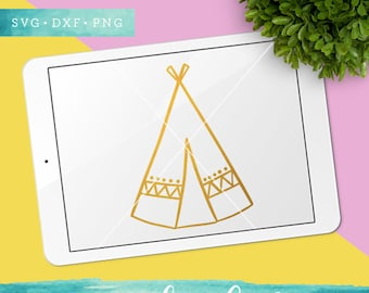 Summer SVG Cut Files / Teepee Svg Cut Files / Camping Svg Cutting Files / Adventure SVG Files / Teepee Clip Art