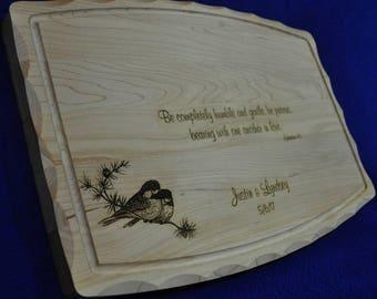 Wedding Gift ~ Bridal Shower Gift ~ Custom Cutting Board ~ Engraved Cutting Board ~ Wedding Gift For Couple ~ Anniversary Gift ~ Custom Gift