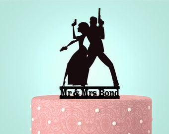 gangster wedding cake toppers gun rifle topper etsy 14643