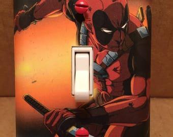 Deadpool Light Switch Cover - Handmade - Marvel Comics