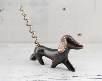 Corkscrew Dachshund Vintage Bottle Opener Soviet kitchen Vintage kitchen retro kitchen russian kitchen best gift|for|husband gift|for|him