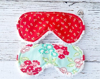 Bridesmaid Gift - Bachelorette Party - Sleeping Mask - Gifts for Her - Eye Mask - Accessories  - Flower Sleep Mask - Christmas In July
