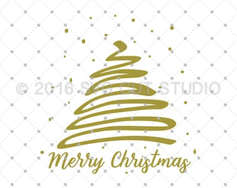 Christmas Tree SVG, Merry Christmas SVG, Christmas svg, Christmas Cut Files svg Cut Files for Cricut, Silhouette, svg files