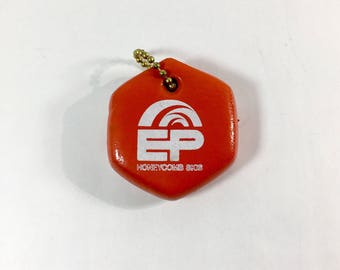 Vintage EP Honeycomb Skis Floating Foam Keychain Not FOb Just Cool Retro Orange Floatable Floats Boat Boating
