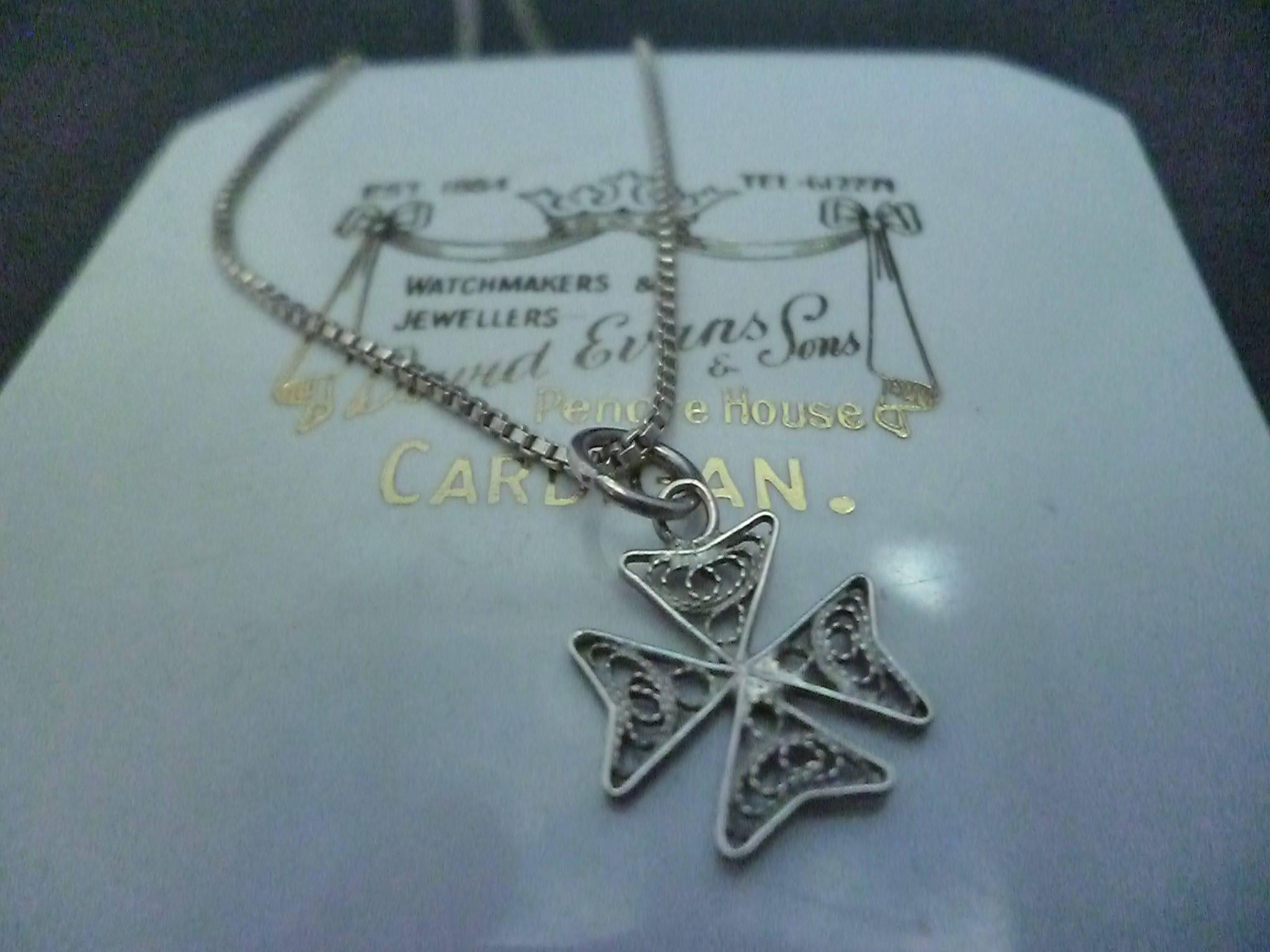 Lovely filigree silver maltese cross pendant necklace 925 lovely filigree silver maltese cross pendant necklace 925 sterling silver 20 necklace aloadofball Images