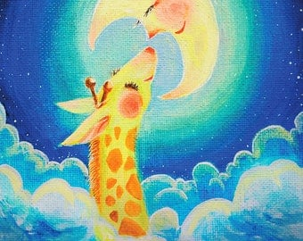 1 x Dreamy Animal A4 Print