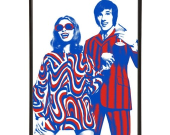Cheers to Carnaby pop art, Mick Avory of The Kinks toasting John Stephen, part of The King of Carnaby Street range of art prints