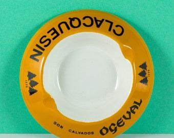 Ceramic Ashtray advertising Clacquesin Aperitif - French Vintage - Tobacciana - Vintage Ashtray