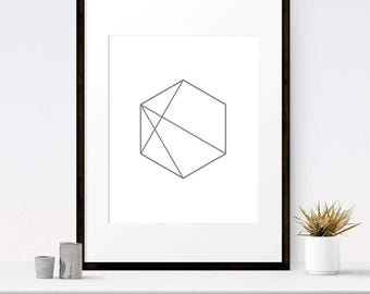 Minimalist art, Line art, Printable art print, Modern art, Minimalist print, Geometric art, Scandinavian art, Minimalist wall art
