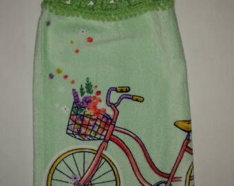 Enjoy the Ride (on a bicycle) Hanging Kitchen Towel