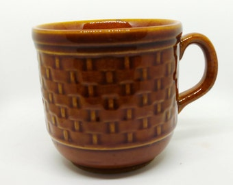 Vintage china - TAMS brown mug basket weave pattern - replacement