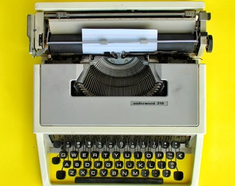 1975 Underwood 310 Manual Portable Typewriter | Excellent Condition | Serviced, New Ribbon