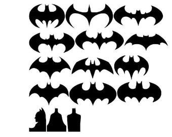 Batman vinyl stickers die cuts (24 pieces )