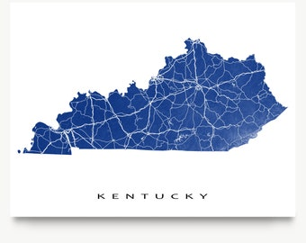 Kentucky Map Etsy - Kentucky on usa map