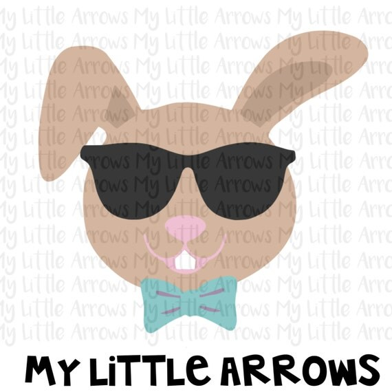 cool bunny sunglasses svg dxf eps png files for cutting