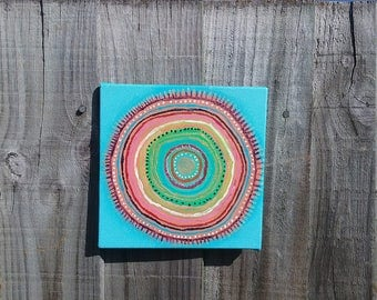 50% OFF Turquoise Blue Mandala Painting    Original Art    Home Decor    Quirky art, Mandala Wall Art, Meditation, spiritual
