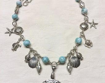 Larimar Sea Treasures Necklace