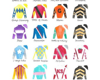 Kentucky Derby 143 11x14 Jockey Silks Signed Print