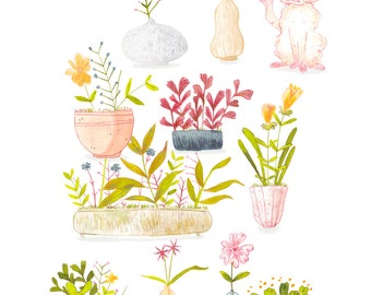 Plants A4 High Quality Print
