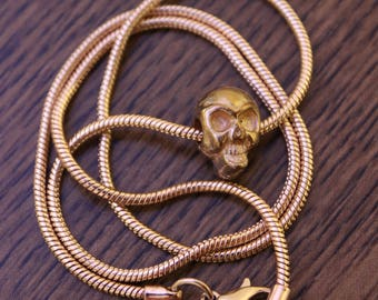 Gold Skull Necklace
