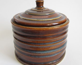 Brown Ceramic Jar, Brown Pottery Jar, Ceramic Canister, Brown Canister, Handmade Jar, Lidded Jar, Jar With Lid, Wheel Thrown Jar, Pottery