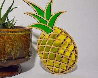 Modern Pineapple Sun Catcher - Home Decor - Suncatcher - Pineapple Hanging- Modern - Pineapple - Sun Catcher - Housewarming - Hostess Gift