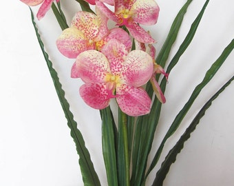 Real Touch Moth Orchid/Phalaenopsis/Butterfly Orchid/Artificial Orchids Flowers/Yellow/Pink
