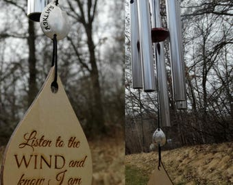 Memorial Garden Wind Chime Custom memorial gift after loss of child or loved one Top porch custom top birthday in Heaven Remembering Baby